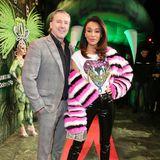 Im knalligen Neon-Outfit erscheint Verona Pooth an der Seite von Franjo zur Party.