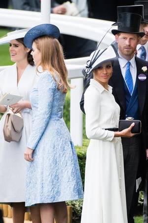 Prinzessin Eugenie, Prinzessin Beatrice, Herzogin Meghan und Prinz Harry