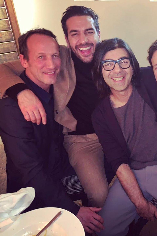 Wotan Wilke Möhring, Elyas M'Barek, Fatih Akin, Florian David Fitz auf der Berlinale