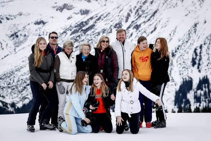 Die niederländische Königsfamilie im Winterurlaub