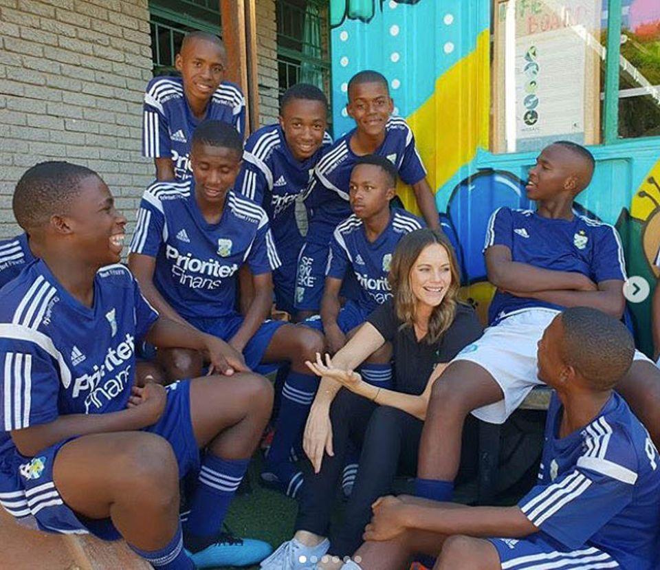 Prinzessin Sofia spricht in Südafrika mit Jugendlichen