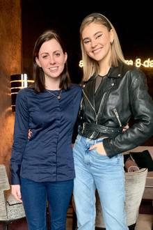 GALA-Redakteurin Kathrin mit Stefanie Giesinger in Berlin