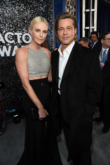 Charlize Theron + Brad Pitt