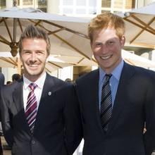 David Beckham und Prinz Harry