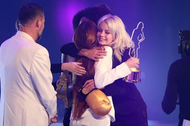 Friede, Freude, Eierkuchen: Beim GNTM-Finale 2018 ist von dem Ärger zwischen Zoe Saip und ihren Mitstreiterinnen nichts zu spüren.