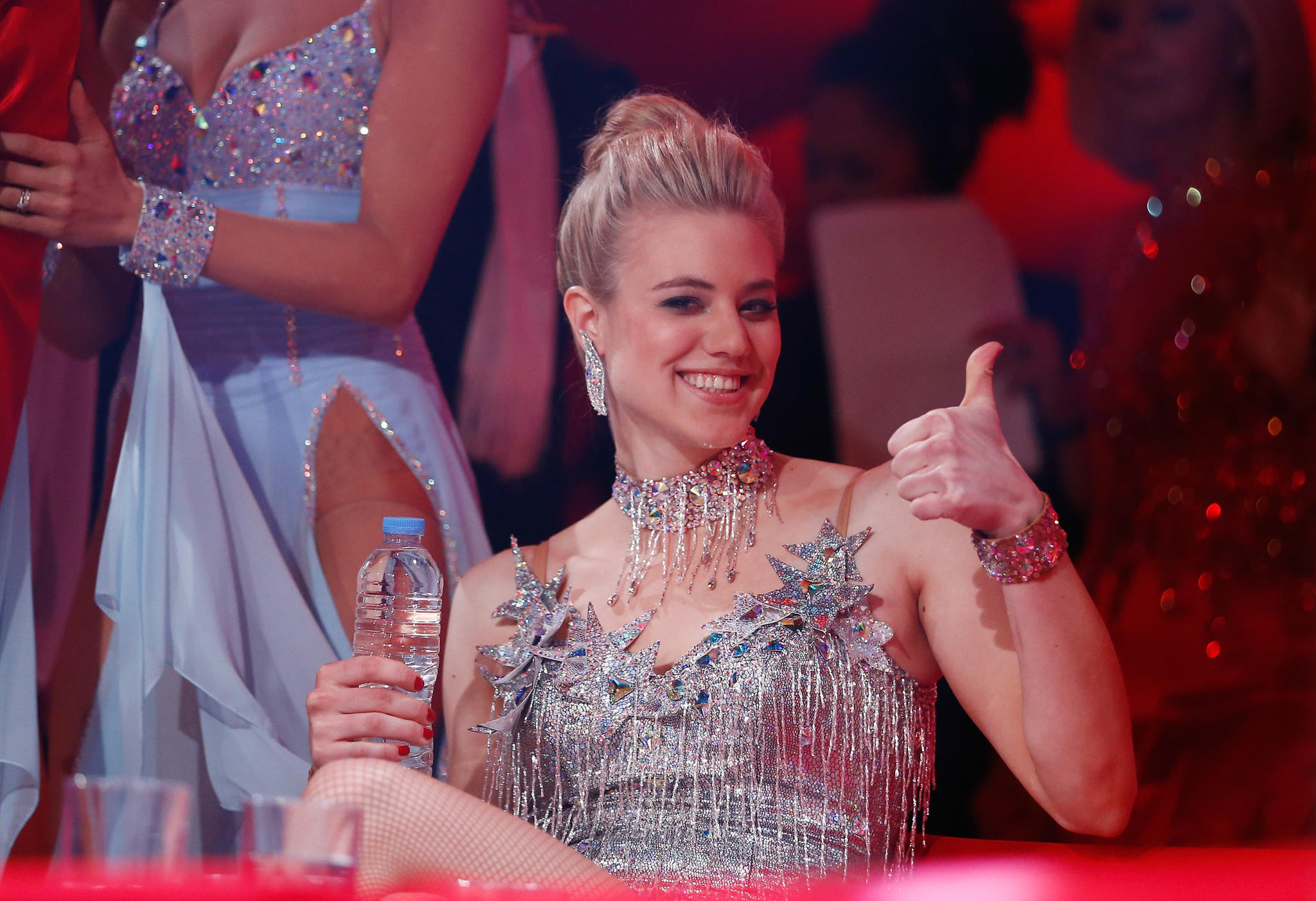 """Daumen hoch! """"Germany's next Topmodel"""" war für Larissa erst der Anfang ihrer Karriere im TV."""
