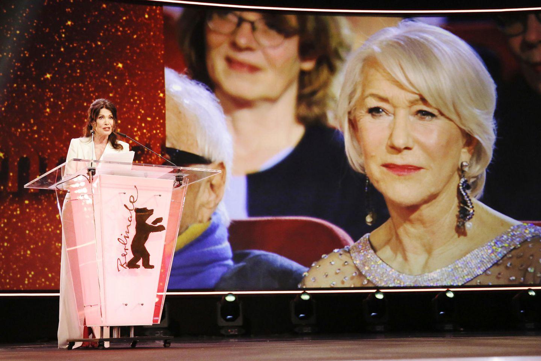 Iris Berben hält die Laudation für Helen Mirren