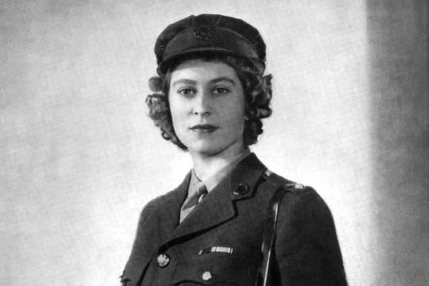 Queen Elizabeth im Januar 1945