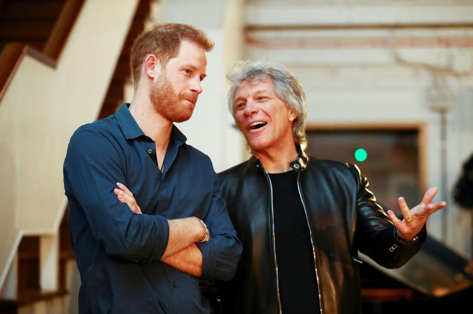 Prinz Harry trifft Bon Jovi