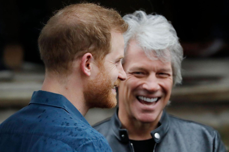 Prinz Harry trifft Jon Bon Jovi