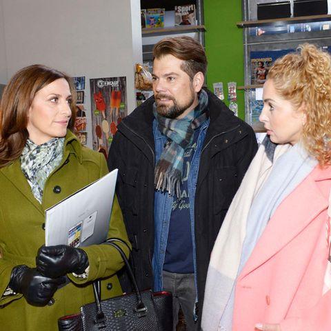 GZSZ: Katrin Flemming (Ulrike Frank), Leon Moreno (Daniel Fehlow) und Nina Ahrens (Maria Wedig)