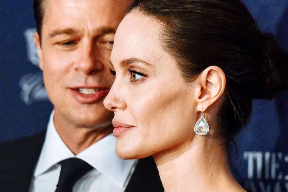 Brad Pitt undAngelina Jolie im November 2015