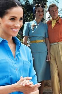 Meghan Markle und Wallis Simpson mit Prinz Edward