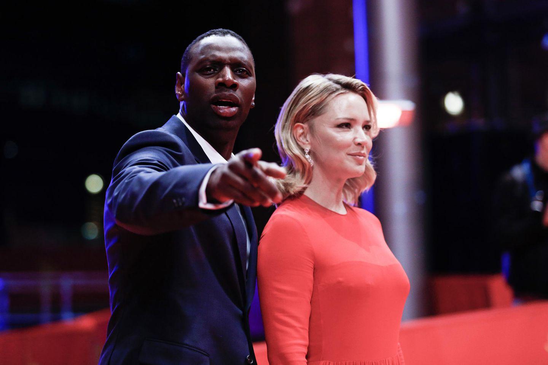 Abends wird dann Premiere gefeiert: OmarSy und seine FilmkolleginVirginie Efira stellen ihren neuen Film ''Police'' vor.