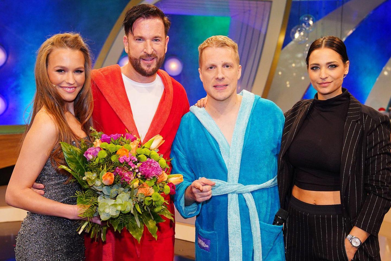 Laura Müller, Michael Wendler und Oliver mit Amira Pocher (v.l.n.r.)