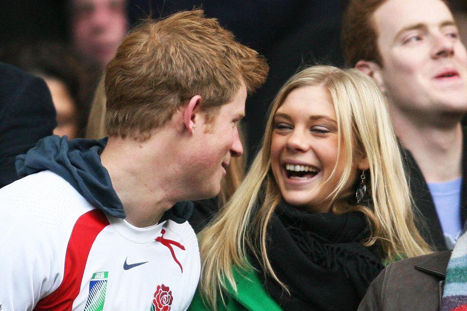 Prinz Harry und Chelsy Davy bei einem Rugbyspiel 2008