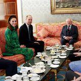 Für das leibliche Wohl von William und Kate ist bestens gesorgt. Gereicht werden Tee, Shamrock-Shortbread, Haferkekse und Zitronen-Kuchen - hergestellt vom hauseigenen Küchenchef des Präsidenten.