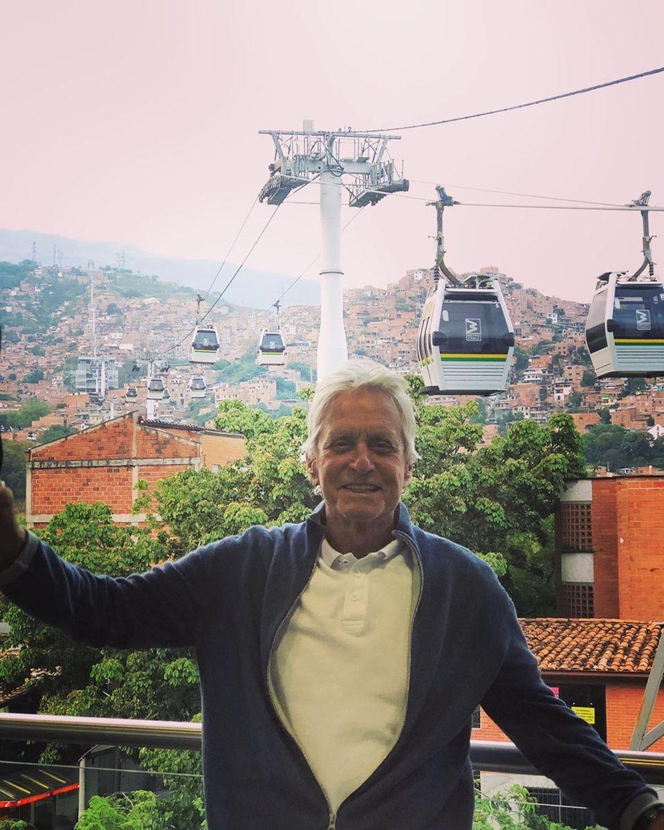 Michael Douglas sendet Grüße aus Kolumbien
