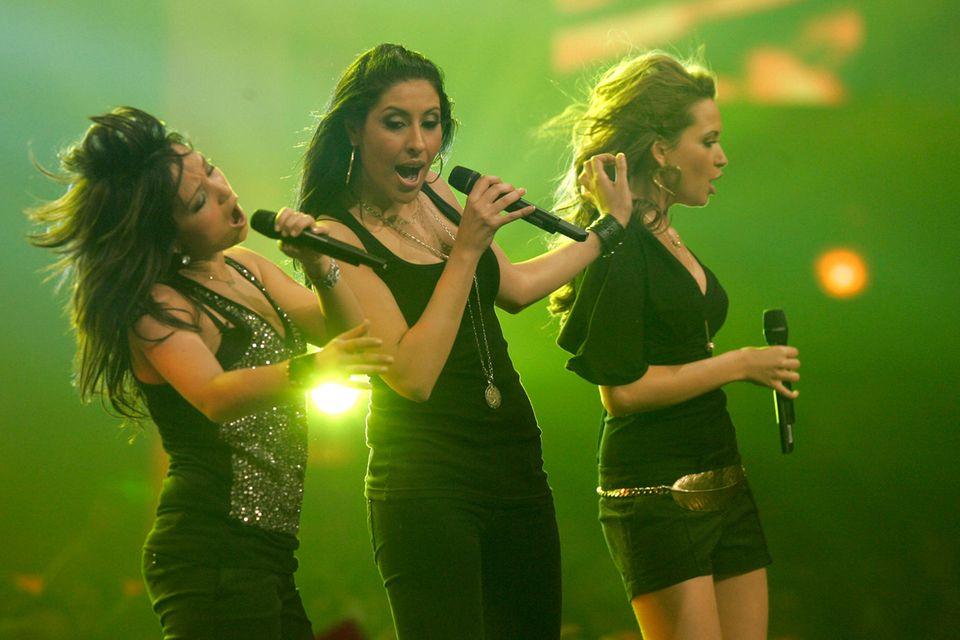 """Bahar Kizil, Senna Gammour,Mandy Capristo alias """"Monrose"""" gelten zwischen 2006 und 2001 als Deutschlands erfolgreichste Girl-Band nach den """"No Angels""""."""