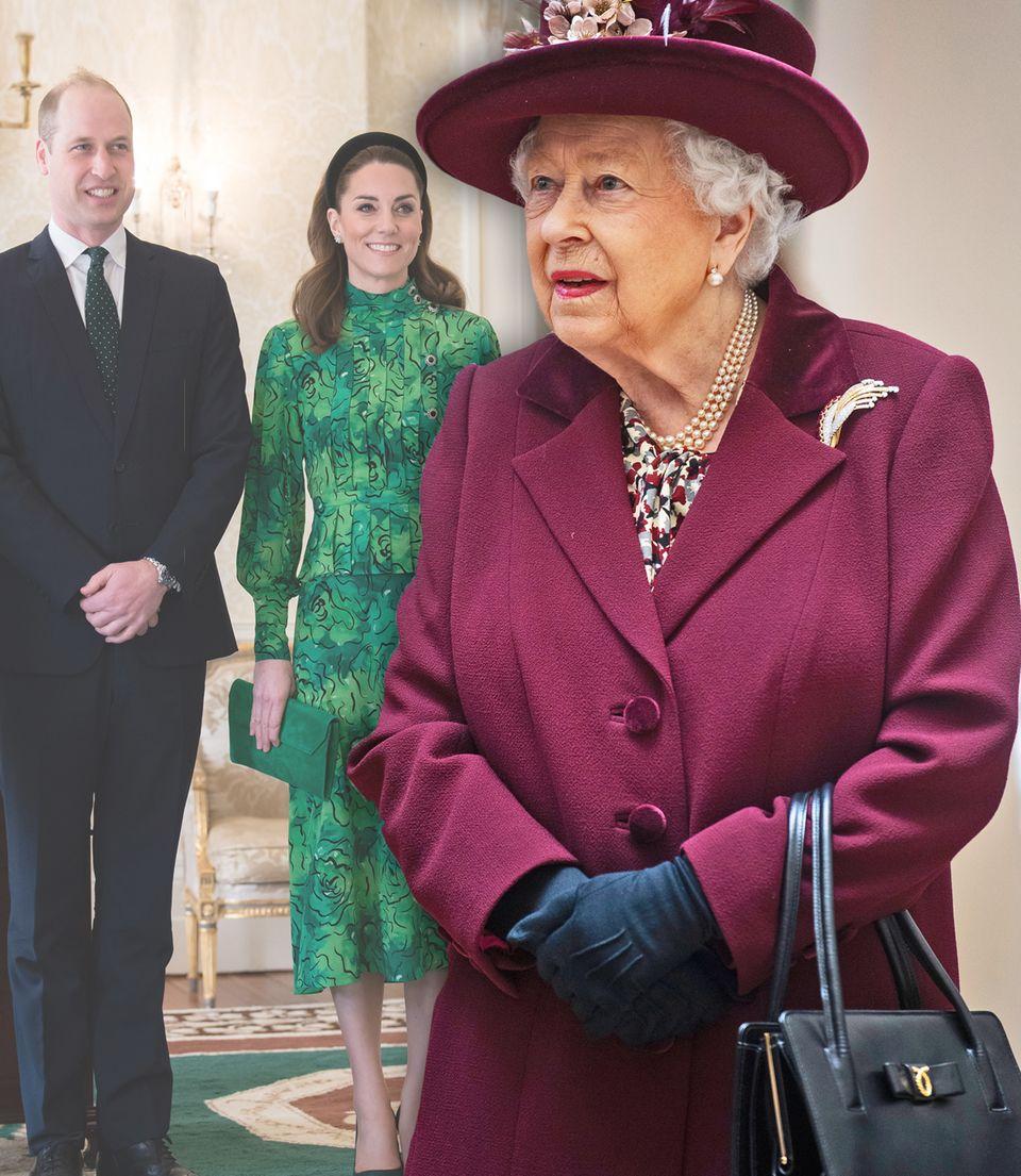Queen Elizabeth, Prinz William und Herzogin Catherine