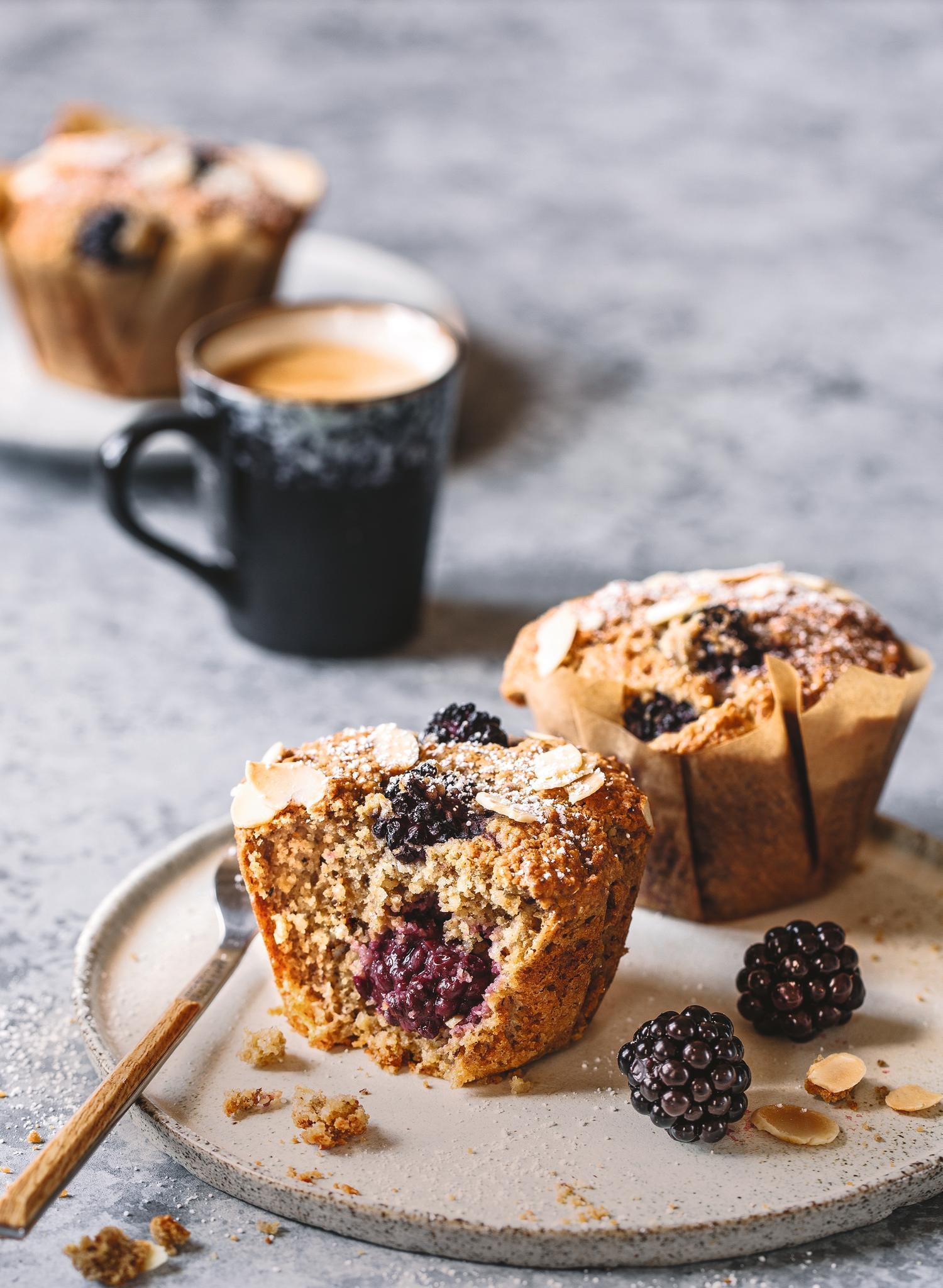 Brombeer-Mandel-Muffins