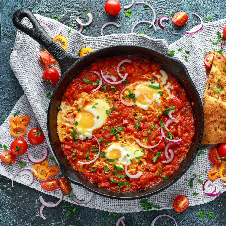 Shakshuka, Frühstücksrezept, Frühstück, Food-Trend