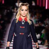 Auch auf dem Catwalk: Sängerin Rita Ora.