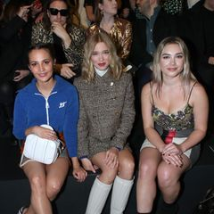 In der Front row bei Louis Vuitton: Alicia Vikander, Lea Seydoux und Florence Pugh.
