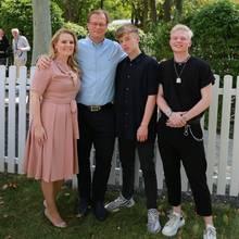 Patricia Kelly mit ihrer Familie