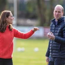 Herzogin Catherine und Prinz William beim Hurling