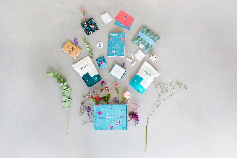 Inhalt des First Period Kits von MYLILY