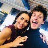 """Spannung! Tanzprofi Renata Lusin schreibt unter diesem Instagram-Selfie, dass ihr Tanzpartner Moritz Hans """"eine andere Seite von sich zeigen"""" wird."""