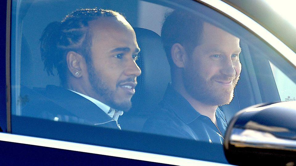 Lewis Hamilton und Prinz Harry