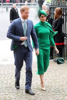 Für Prinz Harry und Herzogin Meghan ist der Commonwealth-Day-Gottesdienst etwas Besonderes: Esist ihr letzter Auftritt im Namen der Queen.Am 31. März tritt der Megxit in Kraft und Harry und Meghan werden keine Pflichten mehr für das Königshaus wahrnehmen.