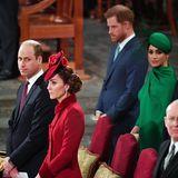 Auf diese Fotos hat die Welt gewartet: Es sind die ersten gemeinsamen Fotos von William, Kate, Harry und Meghan seit der Ankündigung der Sussexes, sich als Senior-Royalszurückzuziehen.