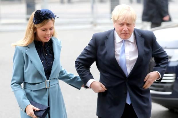 Carrie Symonds und Boris Johnson auf dem Weg zum Commonwealth-Day-Gottesdienst in der Westminster Abbey.