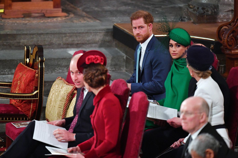 Prinz William und Herzogin Meghan am 9. März in der Westminster Abbey.