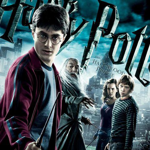 "Daniel Radcliffe, Michael Gambon, Emma Watson undRupert Grint in ""Harry Potter und der Halbblutprinz"""
