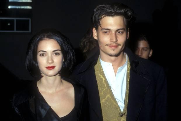 Winona Ryder + Johnny Depp 1990