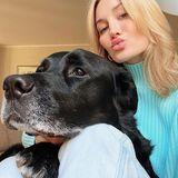Mandy Bork und ihr Django schicken ihren Instagram-Fans ganz viel Liebe.
