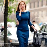 Nur ein Jahr zuvor wurde Sarah Jessica Parker bei Dreharbeiten in einem ähnlichen Kleid fotografiert. Kates Vorlage?