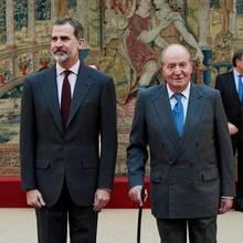 König Felipe und sein Vater, der ehemalige König Juan Carlos