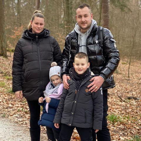 Anja und Patrick Lorent mit ihren Kindern Ewelina und Damian