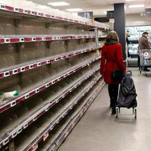 Wegen des Coronavirus sind aktuell viele Supermärkte wie leergefegt.