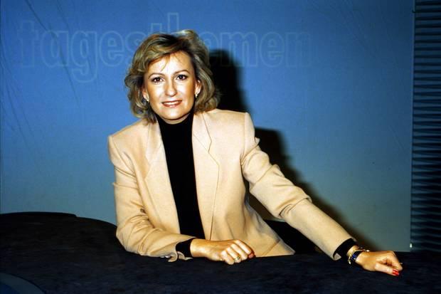 """Sabine Christiansen moderiert von 1987 bis 1997 die """"Tagesthemen""""."""