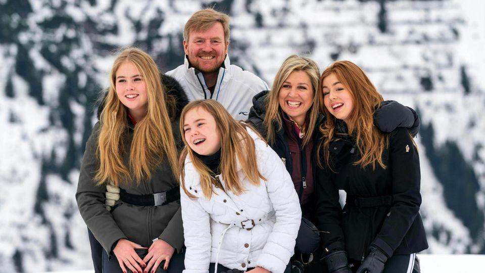 Maxima, Willem-Alexander, Amalia, Alexia und Ariane