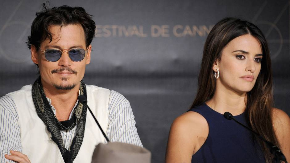 Johnny Depp und Penélope Cruz