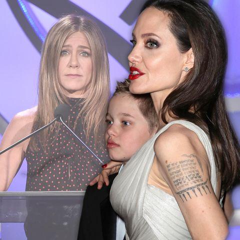 Jennifer Aniston, Shiloh Jolie-Pitt und Angelina Jolie