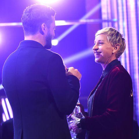 Ellen DeGeneres und Justin Timberlake