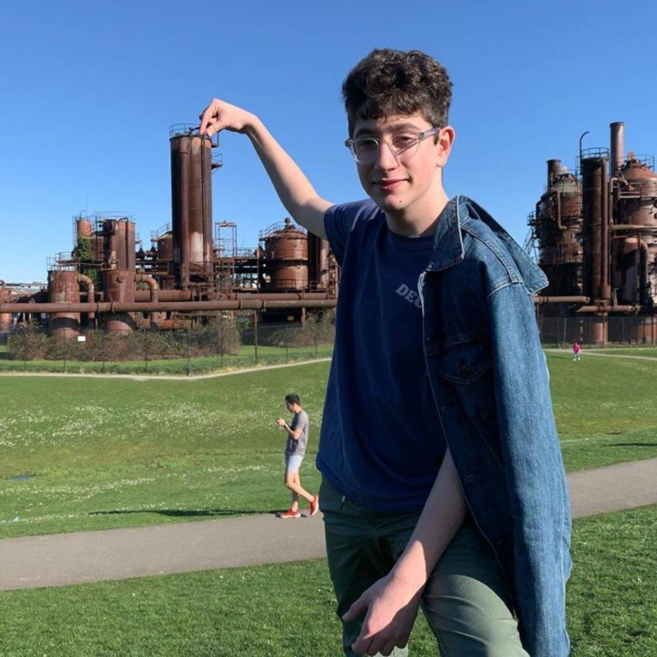 Avi Schiffman, 17, lebt in Mercer Island bei Seattle.